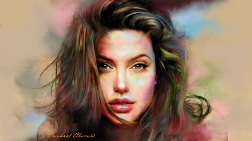 Angelina Jolie by prashant